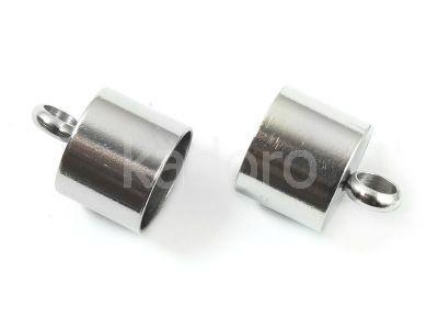 Stalowe końcówki do wklejania 13x10 mm - 2 sztuki