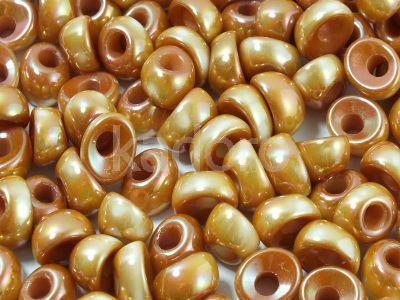 Nano Beads White Full Apricot  - 5 sztuk