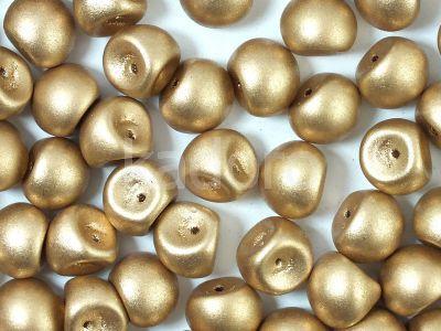 Mushroom Beads Matte Metallic Flax 9x8mm - 10 sztuk
