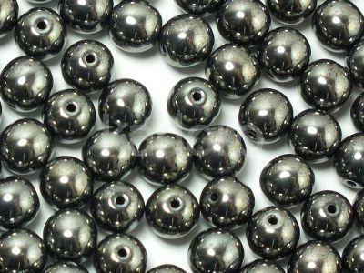Round Beads Hematite 6 mm - 20 sztuk
