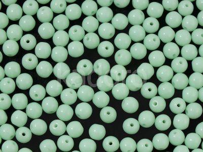 Round Beads Opaque Lt Mint 4 mm - opakowanie