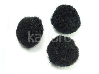 Pompon czarny 20 mm - 10 sztuk