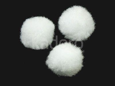 Pompon biały 20 mm - 10 sztuk