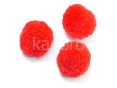 Pompon czerwony 20 mm - 10 sztuk