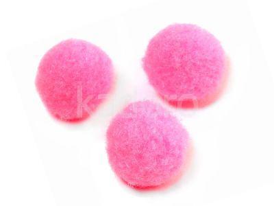 Pompon różowy 20 mm - 10 sztuk