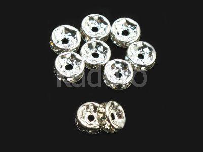 Przekładka z cyrkoniami 6 mm kryształowa - 1 sztuka