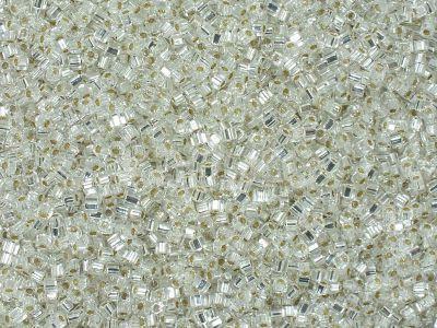 Miyuki Square 1.8mm-1 Silver-Lined Crystal - 5 g