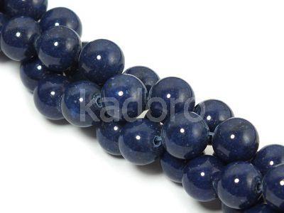 Jadeit granatowy kula 8 mm - sznur 40 cm