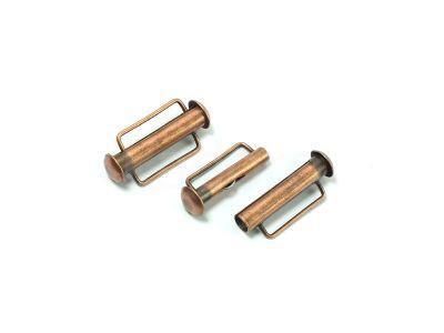 Zapięcie slide 21x10mm miedziane z zaczepem antyczne - 1 sztuka