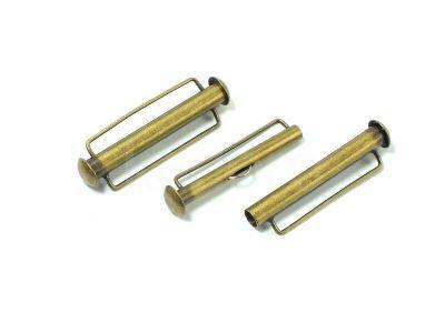 Zapięcie slide 31x10mm mosiężne z zaczepem - 1 sztuka