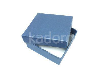 Ozdobne pudełko na biżuterię granatowe
