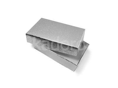 Wytłaczane pudełko prostokątne srebrne