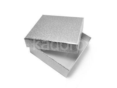 Wytłaczane pudełko duże srebrne