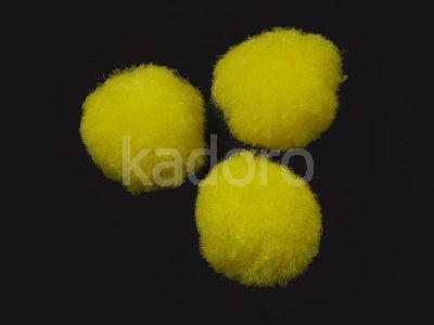 Pompon żółty 20 mm - 10 sztuk