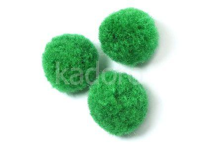 Pompon zielony 20 mm - 10 sztuk