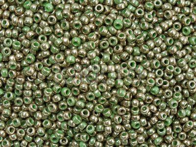 TOHO Round 11o-1702 Gilded Marble Green - 10 g