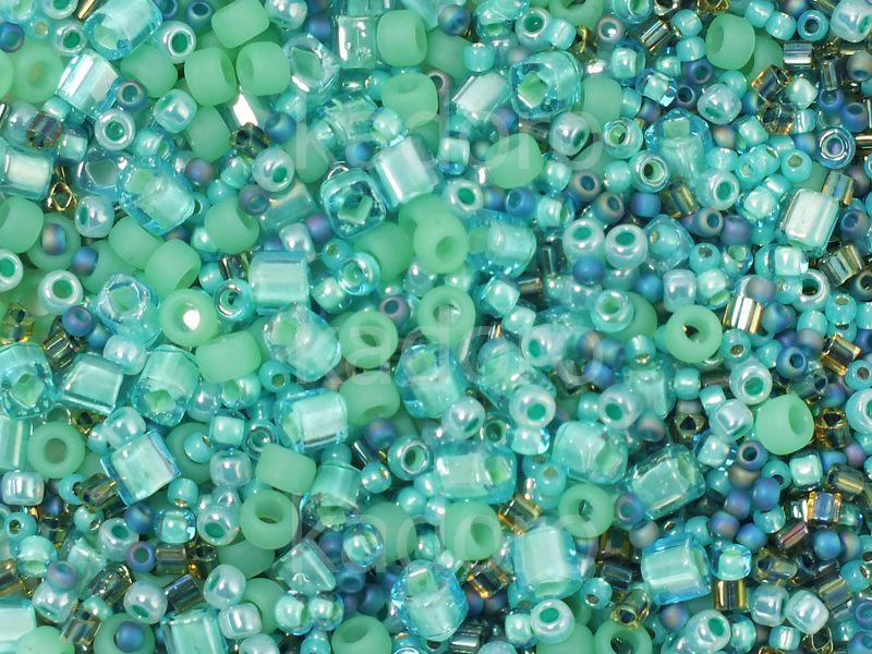 toho multi shape color mix take seafoam green mix 20 g