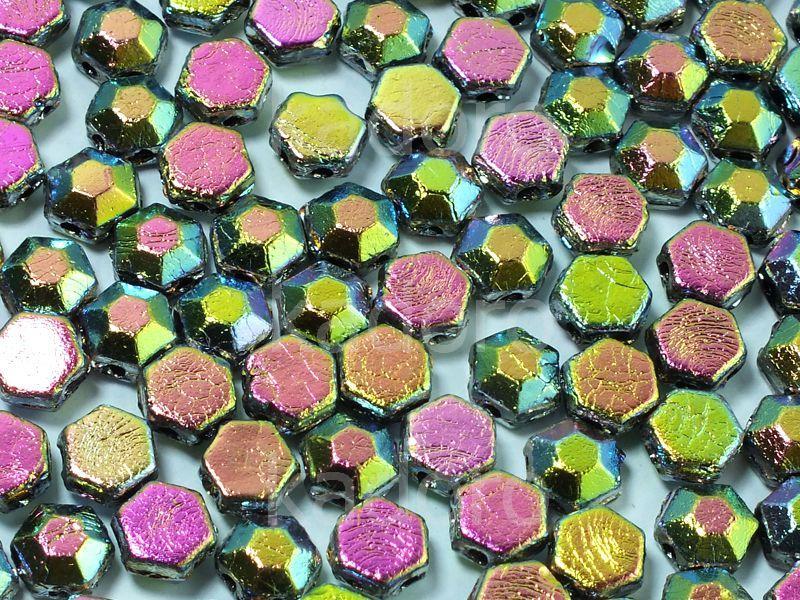 Honeycomb Jewels Chiseled Jet Full Vitrail - 100 g