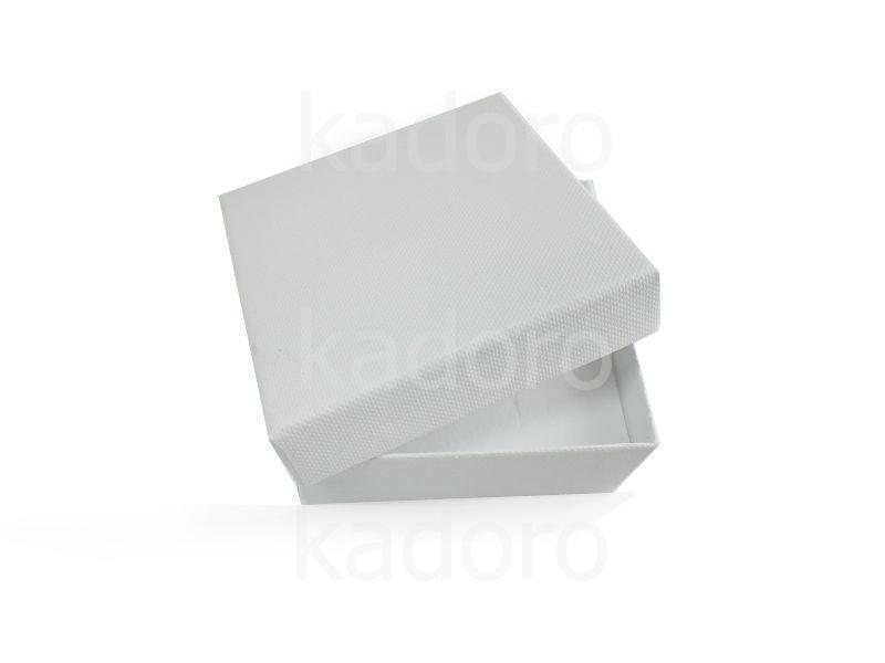 Pudełko z teksturą płótna duże śnieżnobiałe
