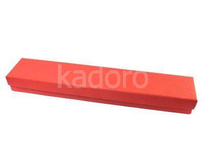 Pudełko z teksturą płótna na bransoletkę czerwone
