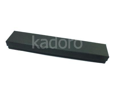 Pudełko z teksturą płótna na bransoletkę czarne