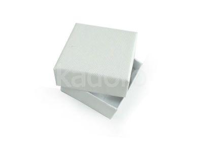 Pudełko z teksturą płótna małe śnieżnobiałe