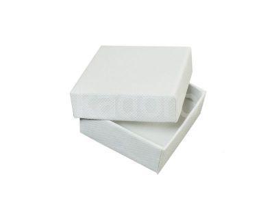Pudełko z teksturą płótna małe białe