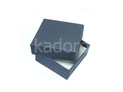 Pudełko z teksturą płótna małe granatowe