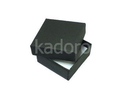 Pudełko z teksturą płótna małe czarne