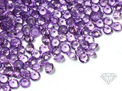 Diamenciki akrylowe fioletowe 3x2mm - 6 g