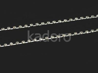 Taśma cyrkoniowa srebrna 2.8 mm - 20 cm