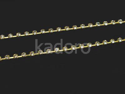 Taśma cyrkoniowa złota 2.8 mm - 20 cm