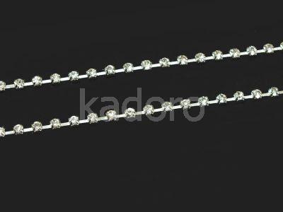 Taśma cyrkoniowa srebrna AB 2.8 mm - 20 cm