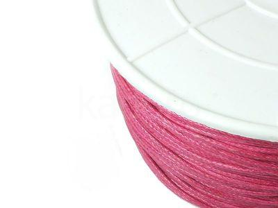 Sznurek woskowany 1 mm rubinowy - 3 m