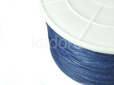 Sznurek woskowany 1 mm błękit pruski - 3 m
