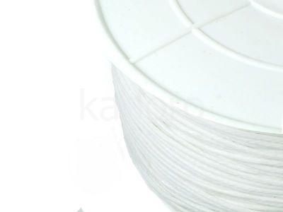 Sznurek woskowany 1 mm alabastrowy - 3 m