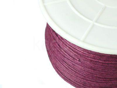 Sznurek woskowany 1 mm jasny burgund - 3 m