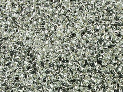 TOHO Round 15o-21 Silver-Lined Crystal - 50 g
