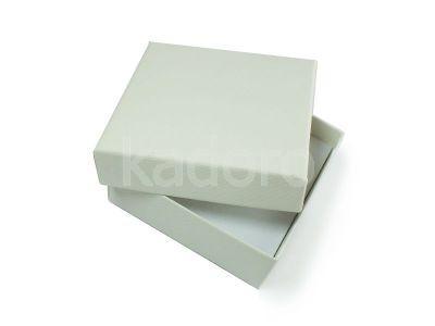Pudełko z teksturą płótna duże białe