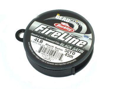Nici BeadSmith FireLine 4LB Black Satin - szpulka