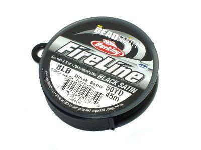 Nici BeadSmith FireLine 8LB Black Satin - szpulka