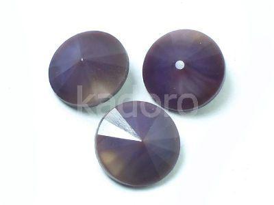 MATUBO Rivoli 12 mm Opaque Dark Violet - 1 sztuka