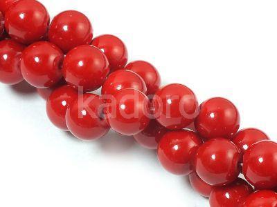 Jadeit czerwony kula 8 mm - sznur 40 cm