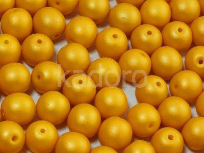 Round Beads Powdery Yellow 8 mm - 10 sztuk