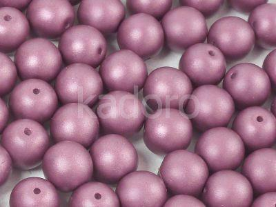 Round Beads Powdery Purple 8 mm - 10 sztuk