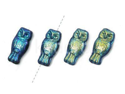 Owls Jet Full AB 15x7 mm - 4 sztuki