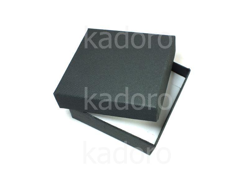 Pudełko z teksturą płótna duże czarne