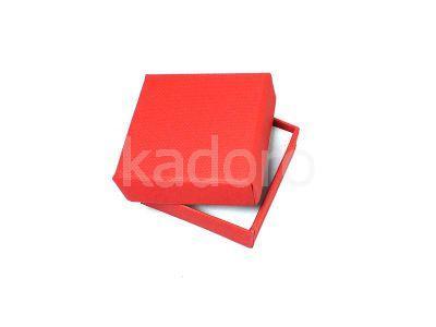 Pudełko z teksturą płótna małe czerwone
