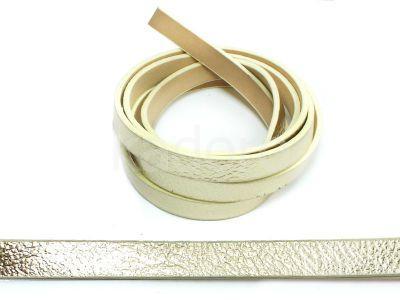 Rzemień ekologiczny złoty 10 mm - 20 cm