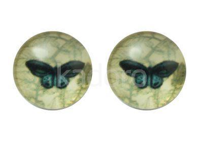 Kaboszon motyl LXVII 12 mm - 2 sztuki